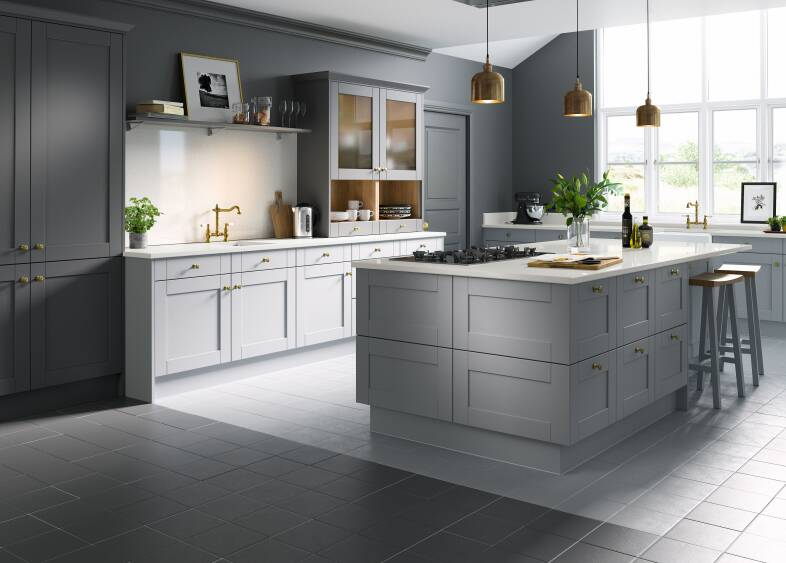Shaker Cathedral & Slate kitchen