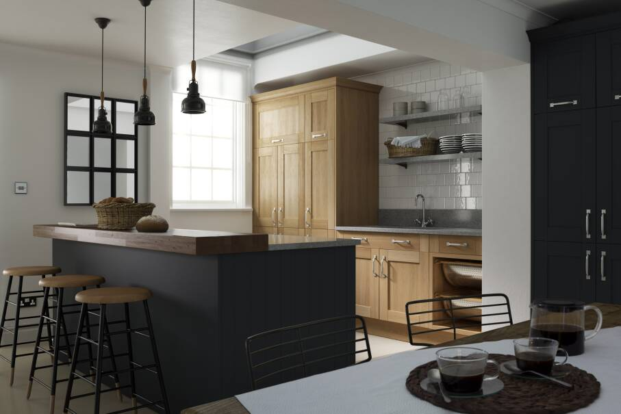 Shaker Cornish Slate Matt Kitchen