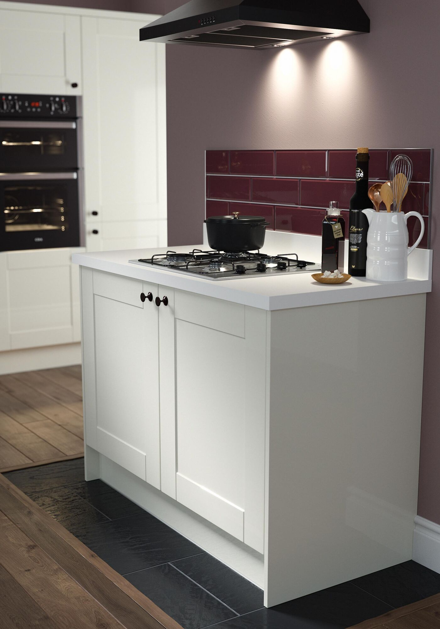 Shaker Cream Gloss Kitchen