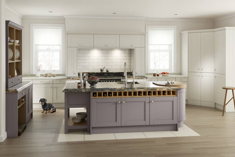 Shaker Damson Matt Kitchen