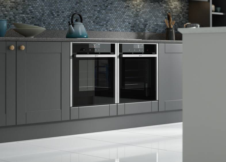 Shaker ermine kitchen in charcoal wren kitchens for Kitchen 0 finance b q