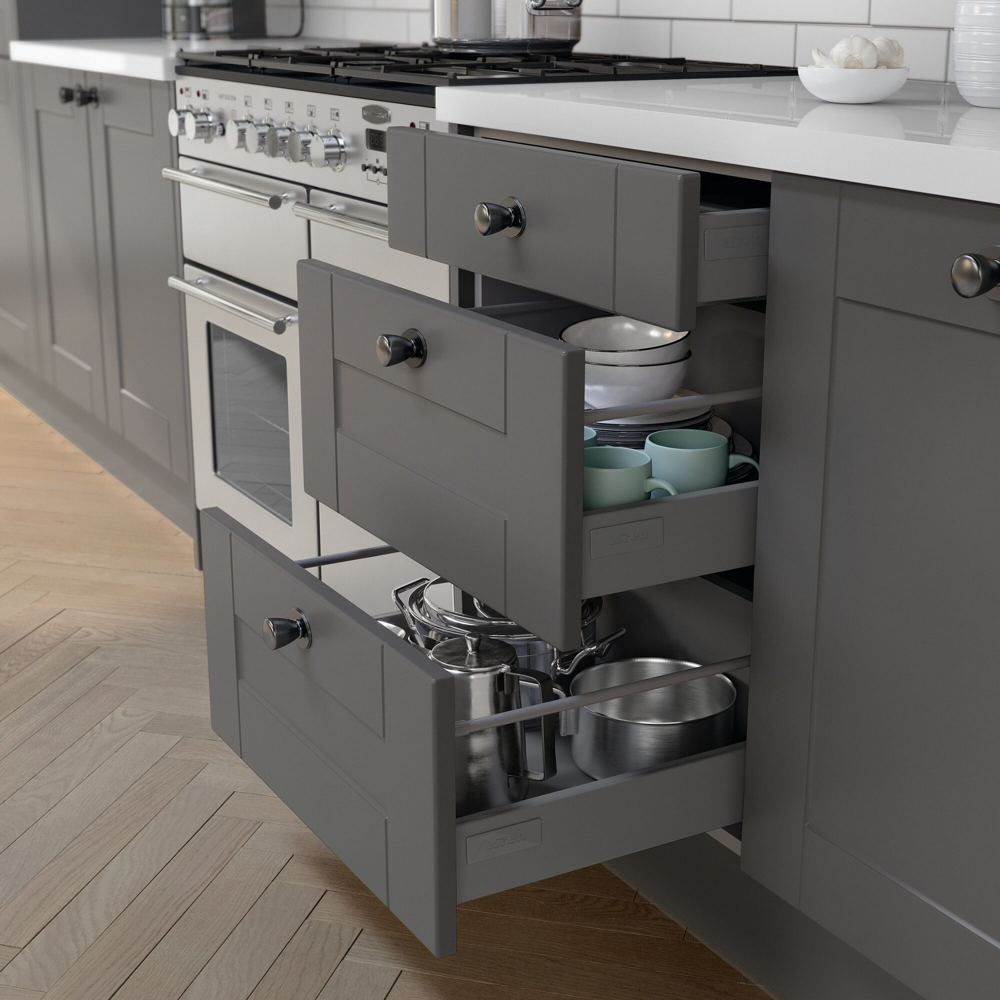 Shaker Ermine Kitchen in Charcoal