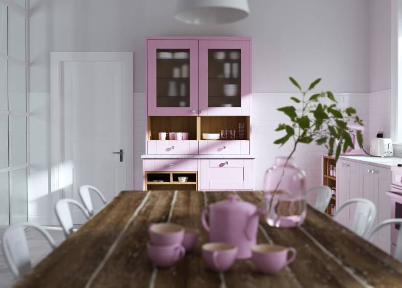 Shaker Ermine Kitchen in Cotton Candy Matt