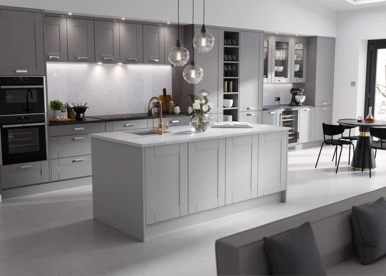 Shaker Ermine Kitchen in Northumberland