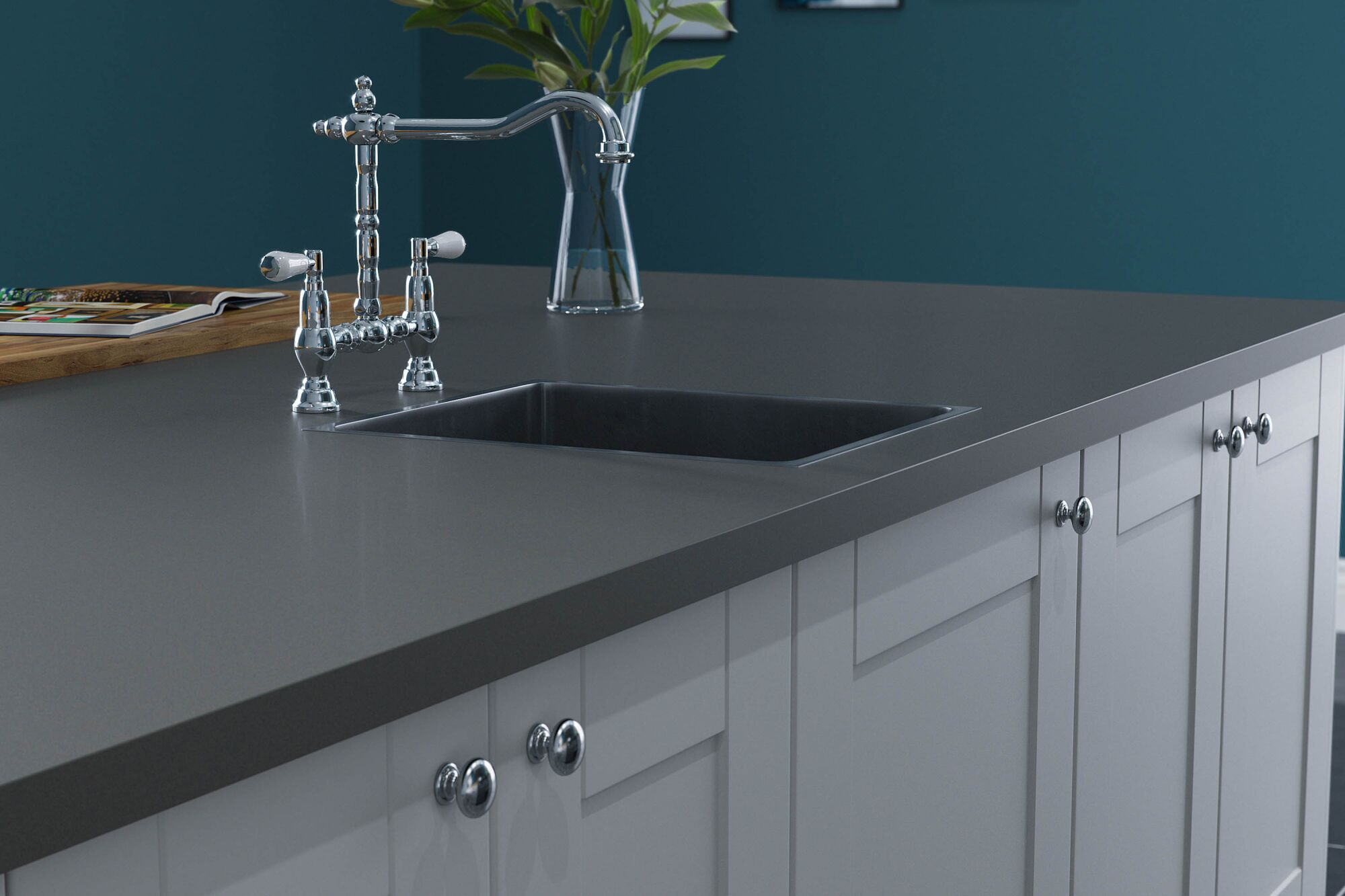 Shaker Ermine Kitchen in Pebble