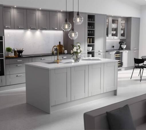 Shaker Ermine (White) Northumberland Matt kitchen