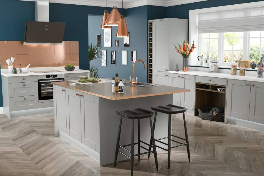 Shaker Fossil Grey Matt Kitchen