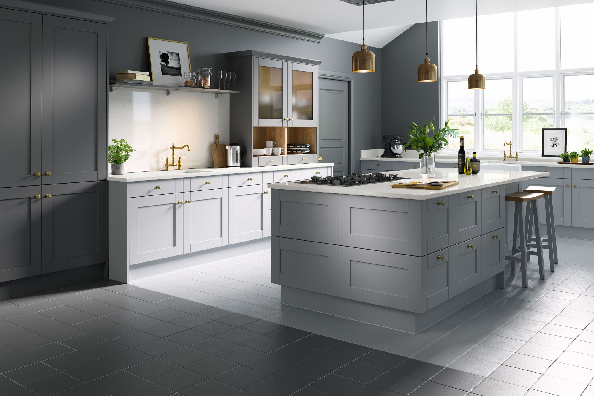 Shaker Kitchen in Cathedral & Slate