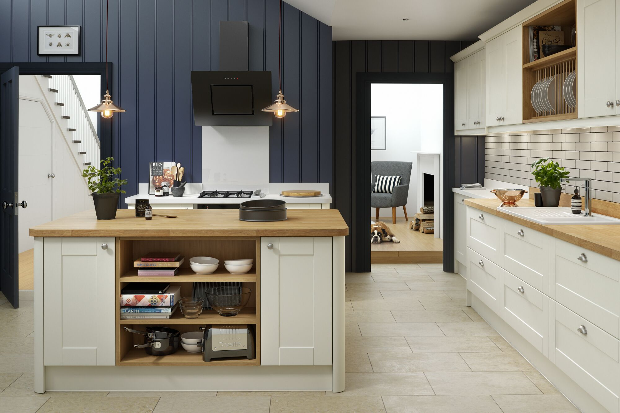 Shaker Kitchen In Cream Matt Wren Kitchens