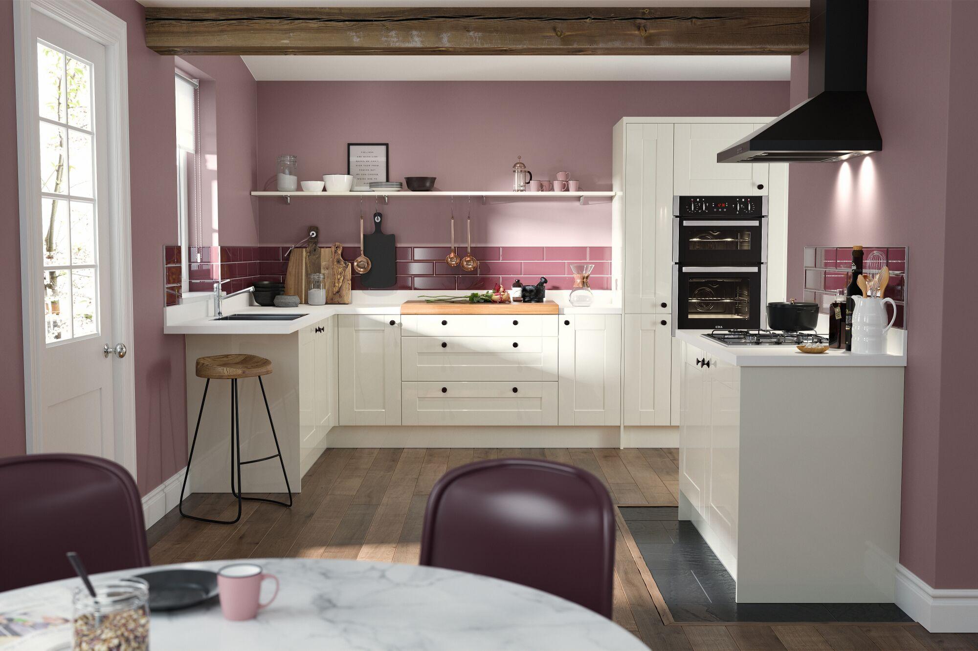 Shaker Kitchen in Cream Gloss