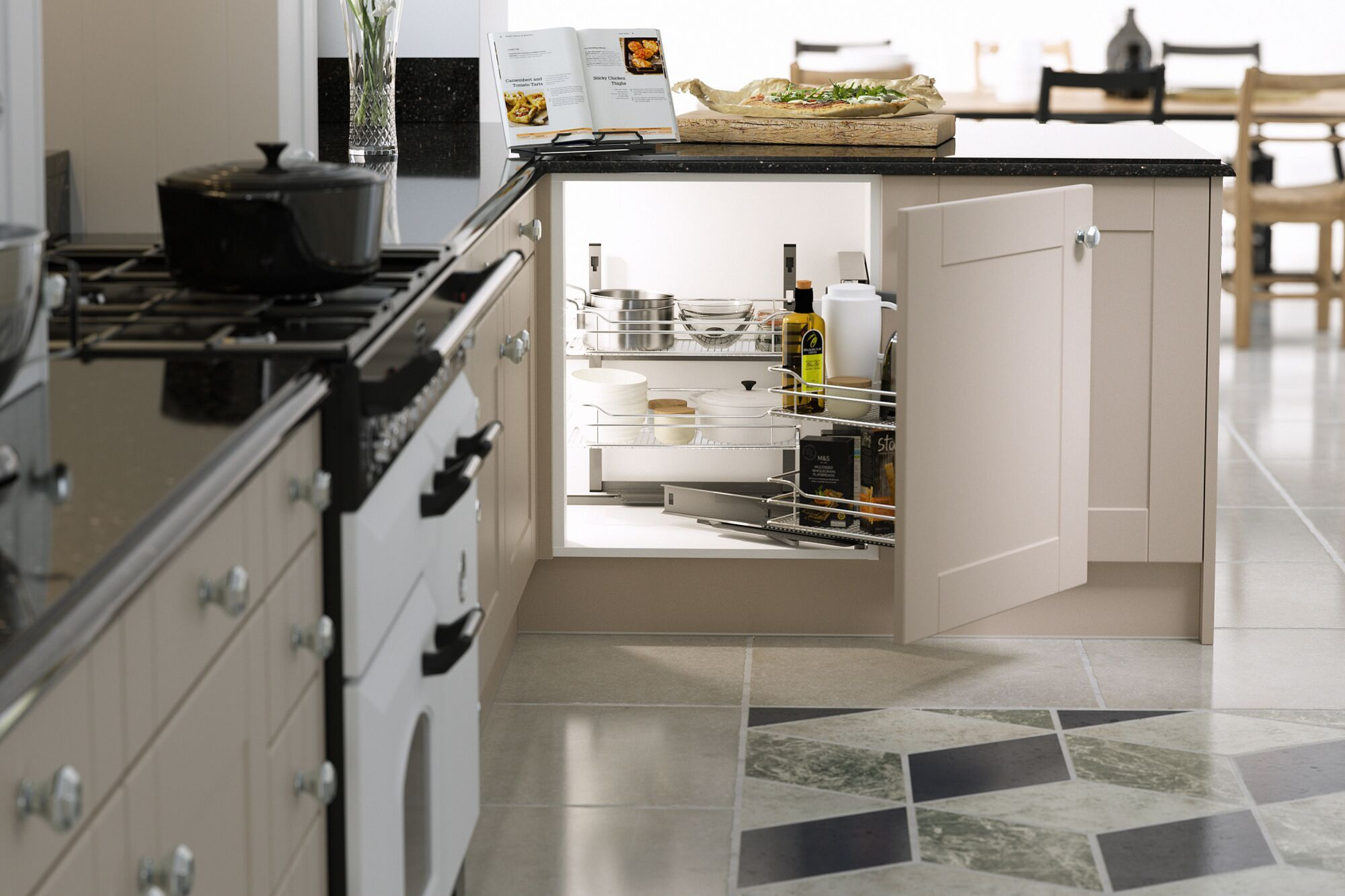 Shaker Kitchen in Mink and Chalk White
