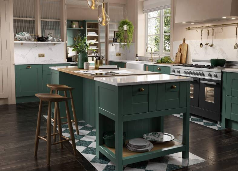 Shaker Kitchen in Roman Leaf