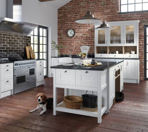 Shaker Super White Matt (White) kitchen
