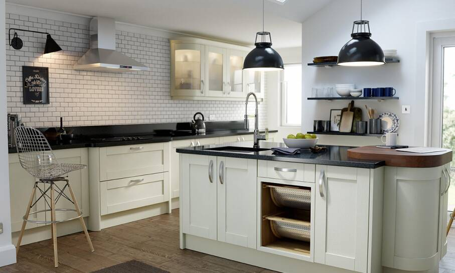 Shaker Timber Alabaster Matt Kitchen