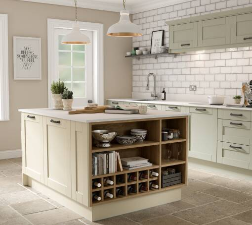 Shaker Timber Sage Matt kitchen