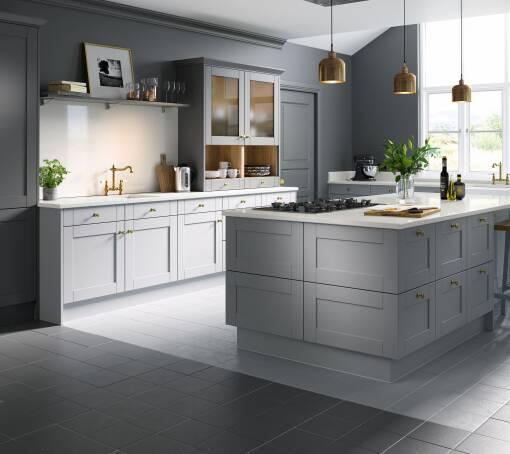 Shaker (White) Cathedral Matt kitchen