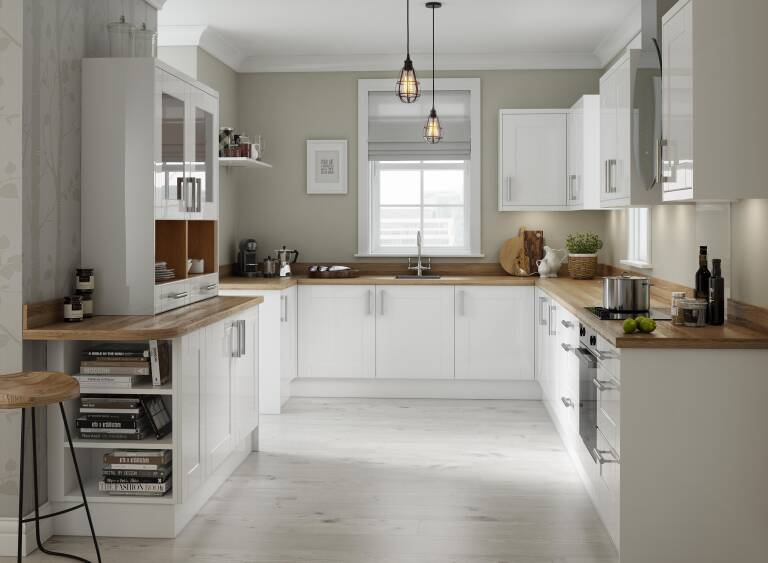 Shaker Kitchen In White Gloss Wren Kitchens