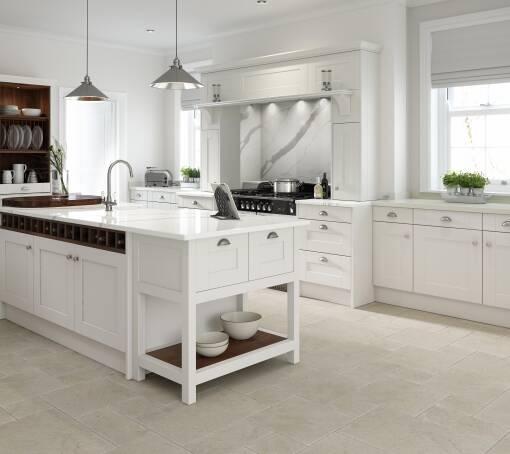 Shaker (White) Parchment Matt kitchen