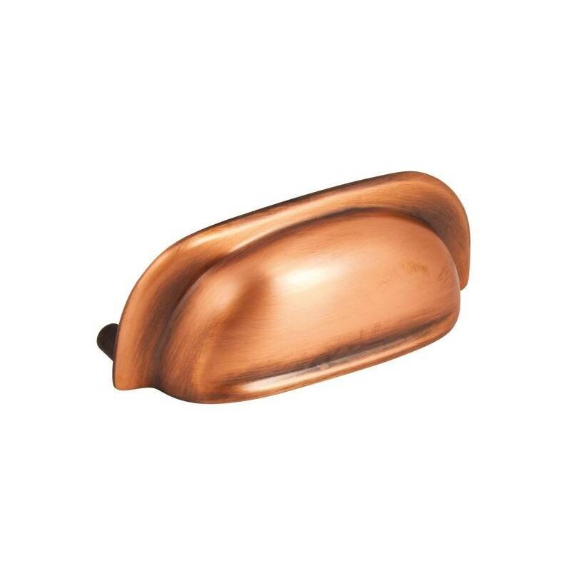 108x40mm Juliet Brushed Copper Cup Handle primary image