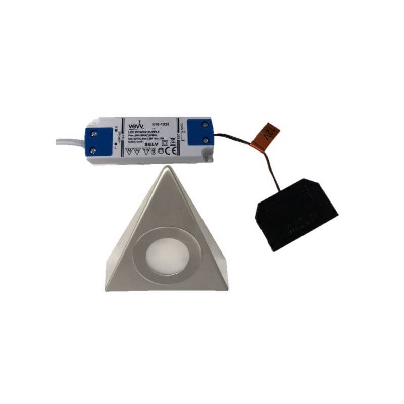 1x2.6w LED Triangle Natural White Light Inc Driver primary image