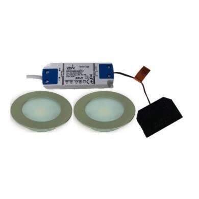 2x2.6w LED Round Natural White Light Inc Driver