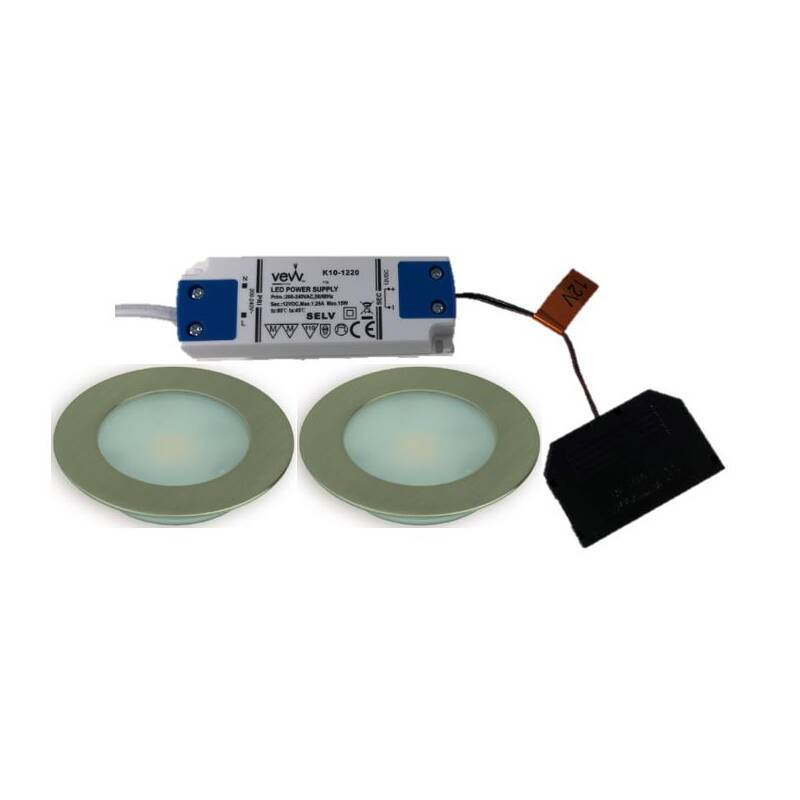 2x2.6w LED Round Natural White Light Inc Driver primary image
