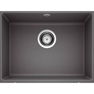 370x500 Samos 1.0 Bowl Composite U/mount Rock Grey
