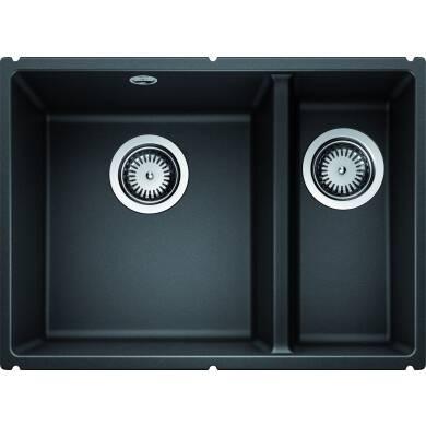 370x525 Samos 1 5 Bowl Composite Rh U Mount Black Wren Kitchens