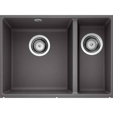 370x525 Samos 1.5 Bowl Composite RH U/mount Rock Grey
