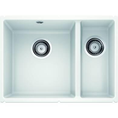 370x525 Samos 1.5 Bowl Composite RH U/mount White