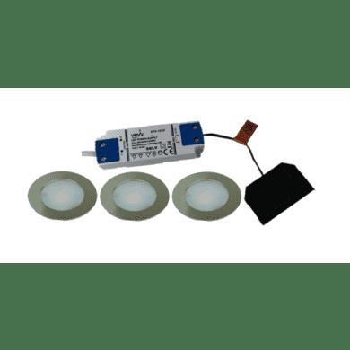 3x2.6w LED Round Natural White Light Inc Driver