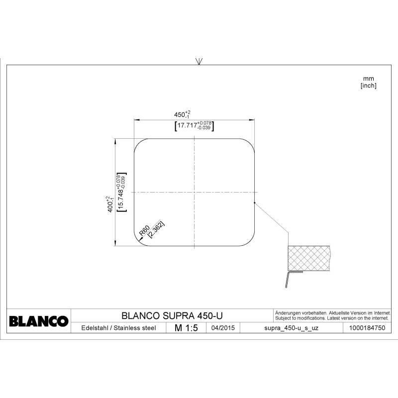400x450 Ecuador Large 1 Bowl U/mount Stainless Steel additional image 1