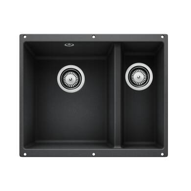400x525 Bali 1.5 Bowl Composite RH U/mount Black