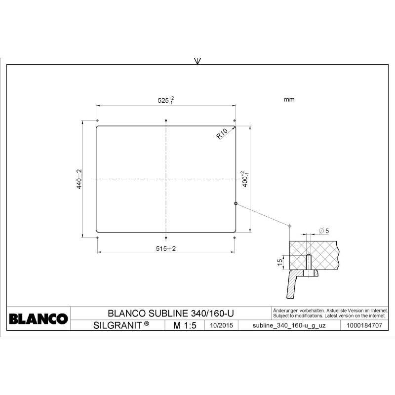400x525 Bali 1.5 Bowl Composite RH U/mount Black additional image 2