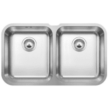 400x715 Ecuador Double Bowl U/mount Stainless Steel