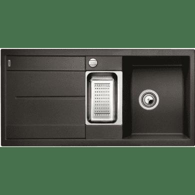 500x1000 Crete Composite 1.5 Bowl RVS Black