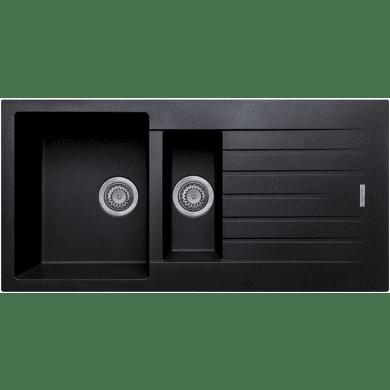 500x1000 Messina Composite 1.5 Bowl RVS Black