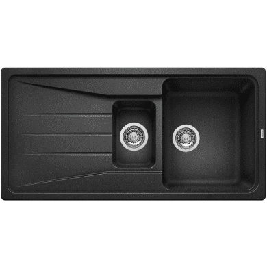 500x1000 Minorca Composite 1.5 Bowl RVS Black