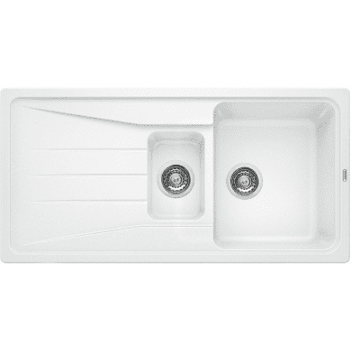 500x1000 Minorca Composite 1.5 Bowl RVS White