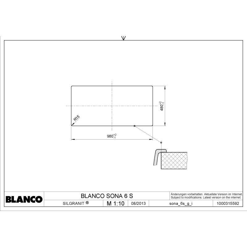 500x1000 Minorca Composite 1.5 Bowl RVS White additional image 1