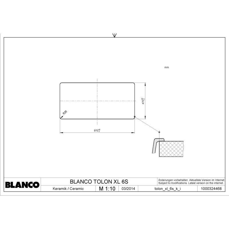 500x1000 Monroe 1.5 Bowl RVS Ceramic additional image 3