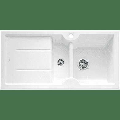 500x1000 Montague 1.5 Bowl LHD Ceramic White