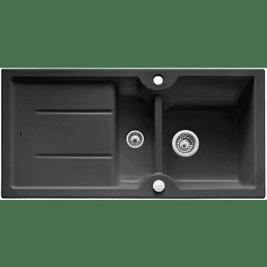 500x1000 Montague 1.5 Bowl RVS Ceramic Black