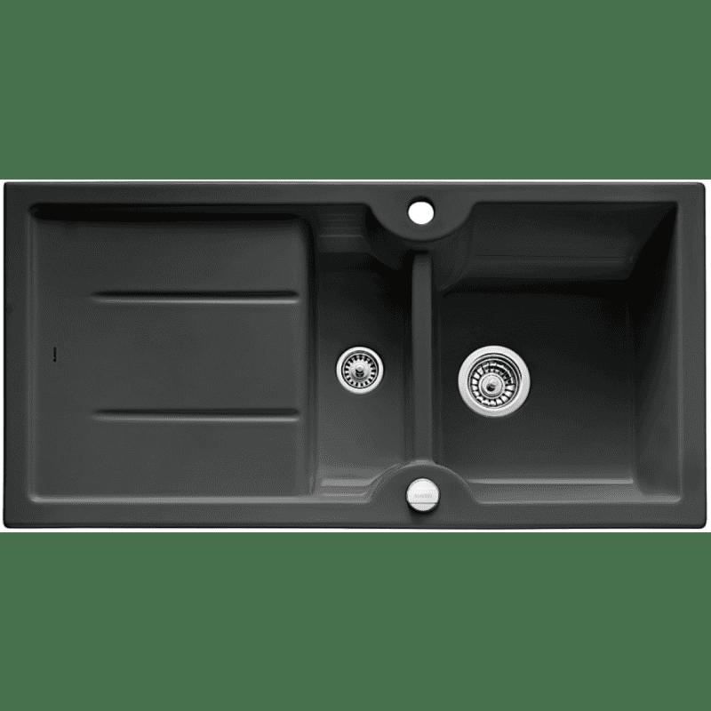 500x1000 Montague 1.5 Bowl RVS Ceramic Black primary image