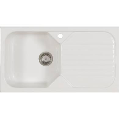 500x900 Swale Ceramic 1.0 Bowl RHD White