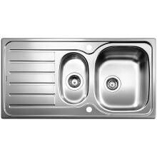 500x950 Tibet 1.5 Bowl RVS Brushed Steel
