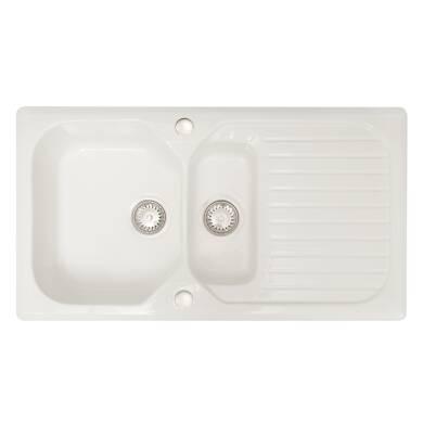 505x920 Swale Ceramic 1.5 Bowl RVS White