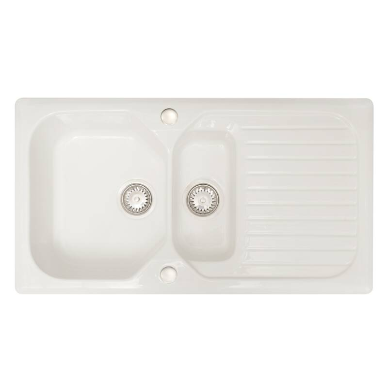 505x920 Swale Ceramic 1.5 Bowl RVS White primary image