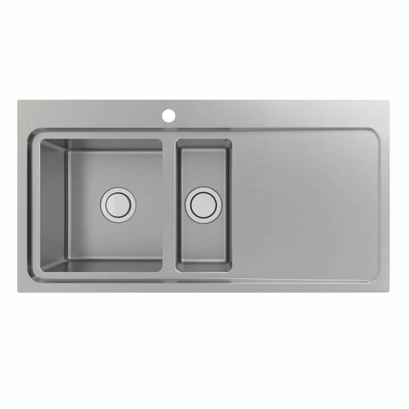 510x1000 Hudson 1.5 Bowl Sink RHD S/Steel primary image