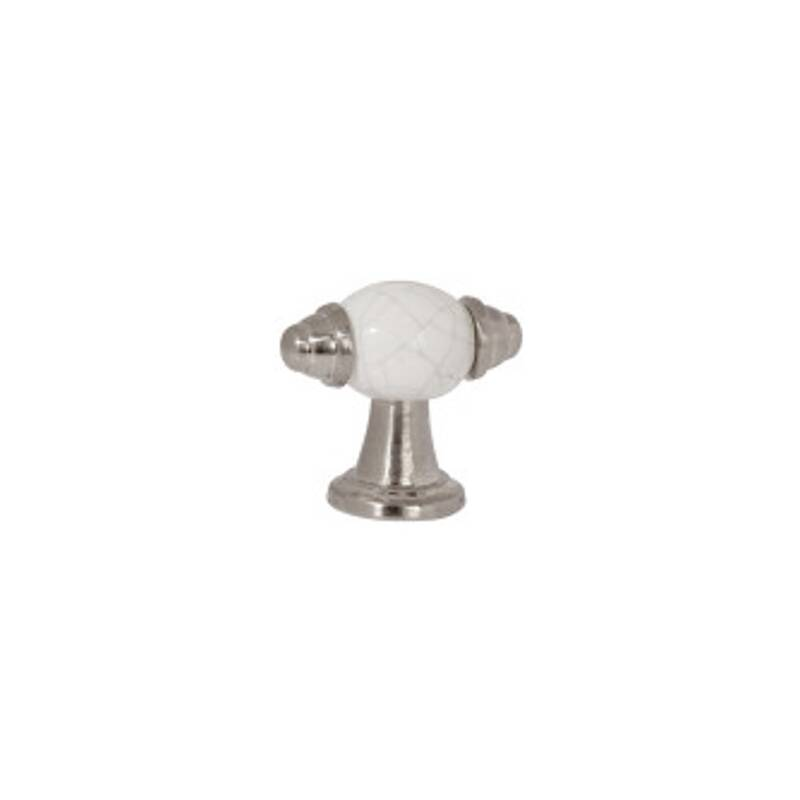 54mm Esme Pewter And White Crackled Handle additional image 1